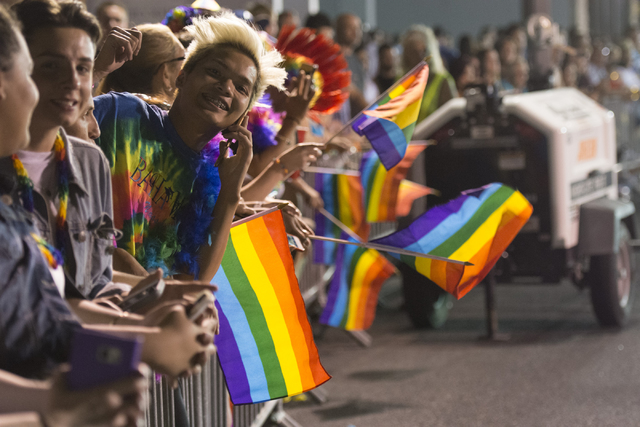 The audience at the 17th annual PRIDE Night Parade in downtown Las Vegas Sept. 18, 2015. View file photo