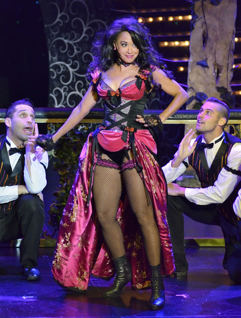 "Reva Rice performs in ""Vegas! the Show"" at the Saxe Theater in the Miracle Mile Shops at the Planet Hollywood hotel-casino at 3667 Las Vegas Blvd. S. in Las Vegas on Thursday, Oct. 1 ..."