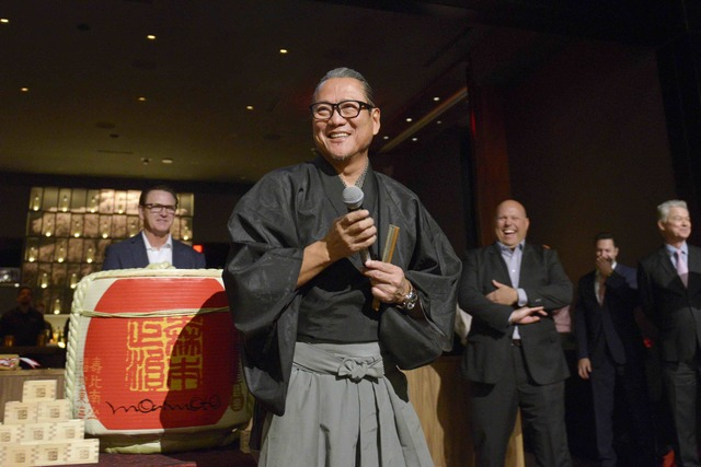 Masaharu Morimoto smiles during the grand opening of his first Las Vegas restaurant, Morimoto, at MGM Grand on Friday, Oct. 21, 2016. (Sam Morris/Las Vegas News Bureau)
