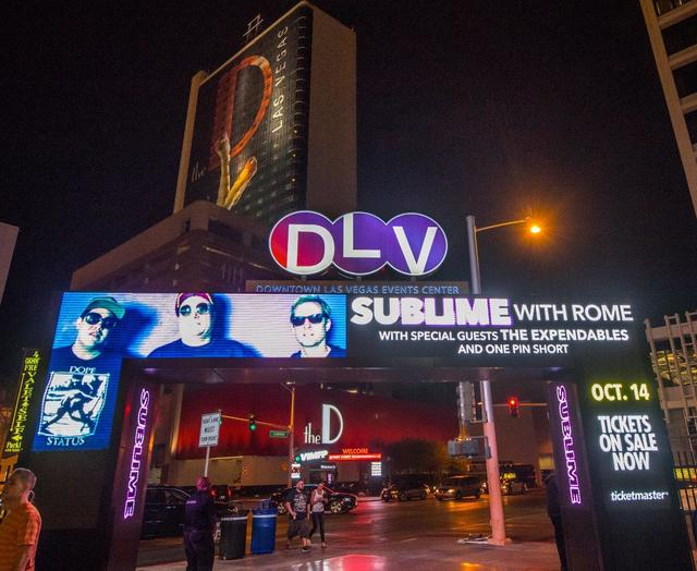 Sublime With Rome, The Expendables and One Pin Short headline Downtown Las Vegas Events Center on Friday, Oct. 14, 2016, in Las Vegas. (Tom Donoghue)
