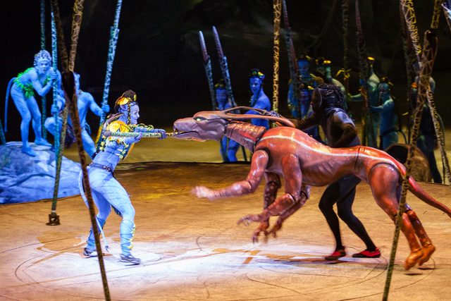 """Cirque's """"Toruk — the First Flight"""" will visit T-Mobile Arena in January. (Errisson Lawrence)"""
