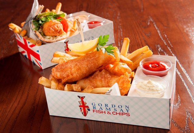 Gordon Ramsay Fish & Chips at The Linq Promenade in Las Vegas.