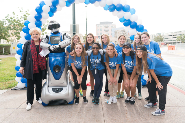 Mayor Carolyn Goodman attends One Drop Walk for Water on Saturday, Oct. 17, 2015, in Las Vegas. (Cashman Photo)