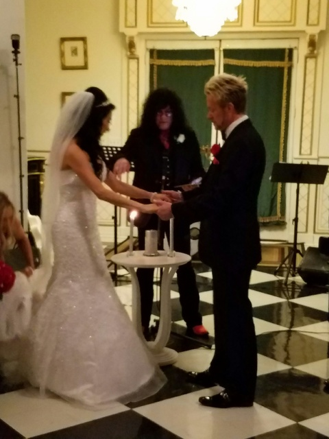 The wedding of Chris Phillips and Jennifer Turco at The Hartland Mansion on Monday, Oct. 24, 2016, in Downtown Las Vegas. (TVT)