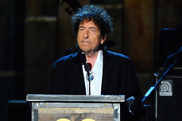 Bob Dylan has been awarded a Nobel Prize for Literature. (Vince Bucci/AP)