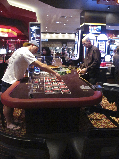 A game of roulette is underway at the Golden Nugget casino in Atlantic City, N.J., June 24, 2016. (Wayne Parry/AP)