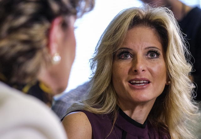 "Summer Zervos, right, speaks alongside her attorney Gloria Allred during a news conference in Los Angeles, Friday, Oct. 14, 2016. Zervos, a former contestant on ""The Apprentice""  ..."