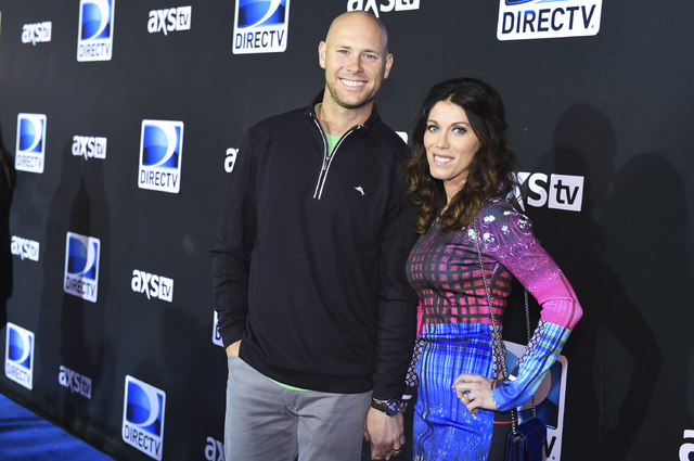 In this Saturday, Jan. 31, 2015, file photo, Josh Brown, left, and Molly Brown arrive at the 2015 DIRECTV Super Saturday Night at the Pendergast Family Farm, in Glendale, Ariz. (Scott Roth/Invisio ...
