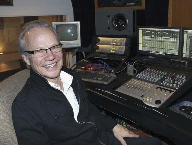 Bobby Vee is shown at the studio console at his family's Rockhouse Productions in St. Joseph, Minn., Dec. 18, 2013. Vee, 73, died Monday Oct. 24, 2016 of complications from Alzheimer's disease. (J ...