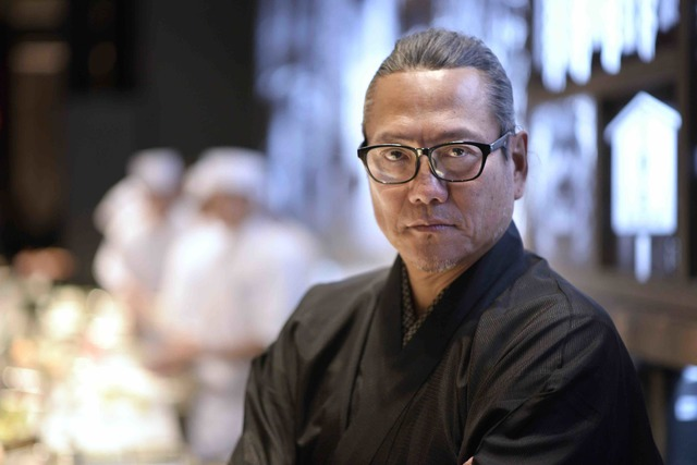 Masaharu Morimoto during the grand opening of his first Las Vegas restaurant, Morimoto, at MGM Grand on Friday, Oct. 21, 2016. (Sam Morris/Las Vegas News Bureau)