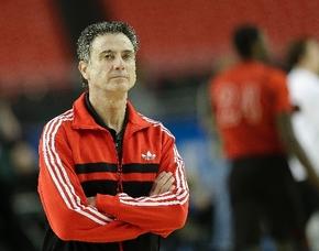 Louisville basketball coach Rick Pitino