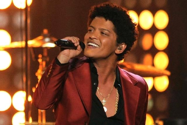 Bruno Mars at the Billboard Music Awards in Las Vegas (AP)