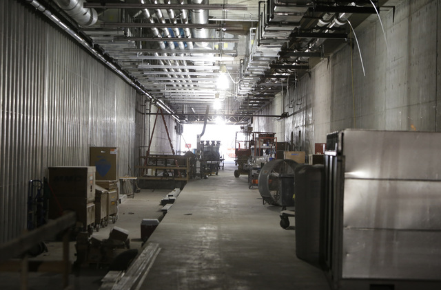 A half-mile under-construction tunnel from Terminal D satellite concourse leading to US Customs inspection area is seen Friday, Sept. 9, 2016, at McCarran International Airport. Bizuayehu Tesfaye/ ...