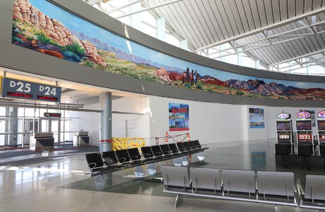 Terminal D satellite concourse at McCarran International Airport is seen on Friday, Sept. 9, 2016. Bizuayehu Tesfaye/Las Vegas Review-Journal Follow @bizutesfaye