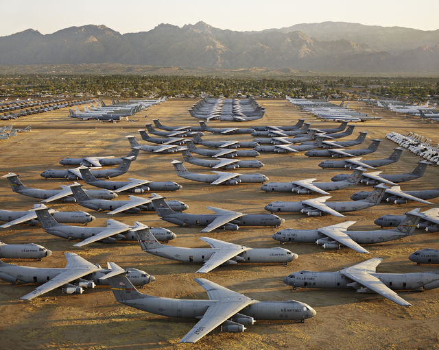 """The End of Oil,"" part of award-winning photographer Edward Burtynsky's ""Oil"" project, includes a 2006 shot of an aircraft ""boneyard"" at Tucson's Davis-Monthan Air Force Base. ""Oil,"" organized by  ..."