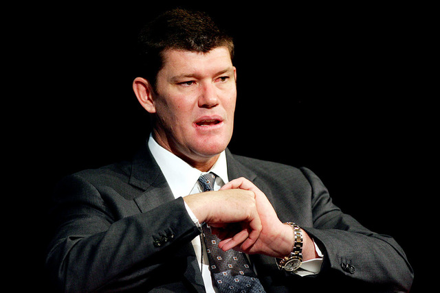 James Packer, Executive Chairman of Publishing and Broadcasting Limited and Australia's richest person, answers questions following his speech at the Astra Conference on subscription television in ...