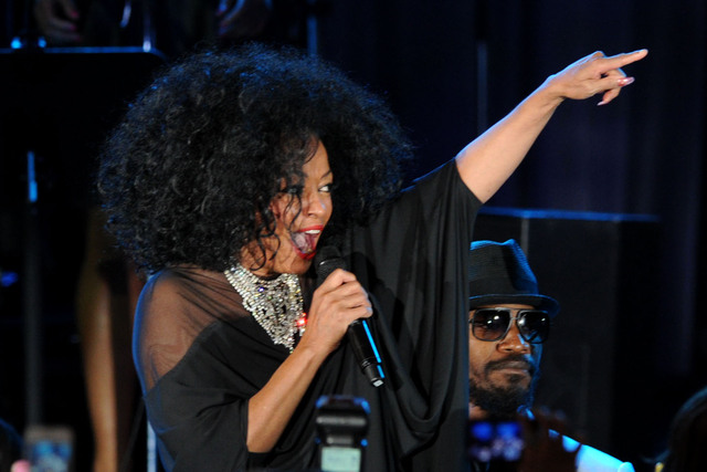 Diana Ross performs onstage at the Pre-GRAMMY Gala & Salute to Industry Icons with Clive Davis honoring Richard Branson, Saturday, Feb. 11, 2012, in Beverly Hills, Calif. (AP Photo/Vince Bucci)