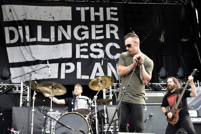 Greg Puciato of Dillinger Escape Plan performs at Riot Fest & Carnival at Douglas Park on Friday, Sept. 16, 2016, in Chicago. (Photo by Rob Grabowski/Invision/AP)