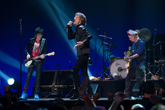 The Rolling Stones perform in concert at the MGM Grand Garden Arena on Saturday, May 11, 2013, in Las Vegas. (Al Powers/Powers Imagery/Invision/AP)