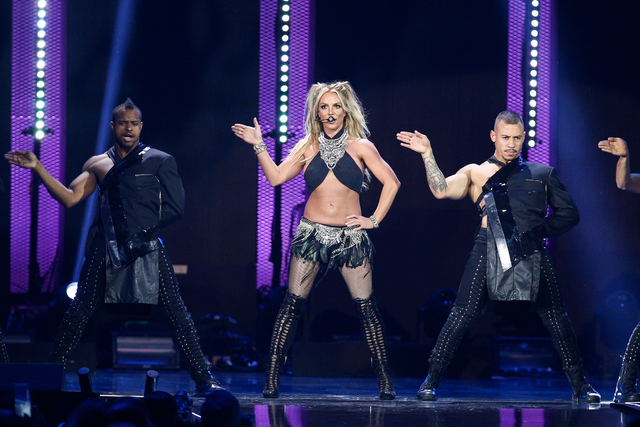 Britney Spears performs at the 2016 iHeartRadio Music Festival - Day 2 at T-Mobile Arena. (Photo by John Salangsang/Invision/AP)