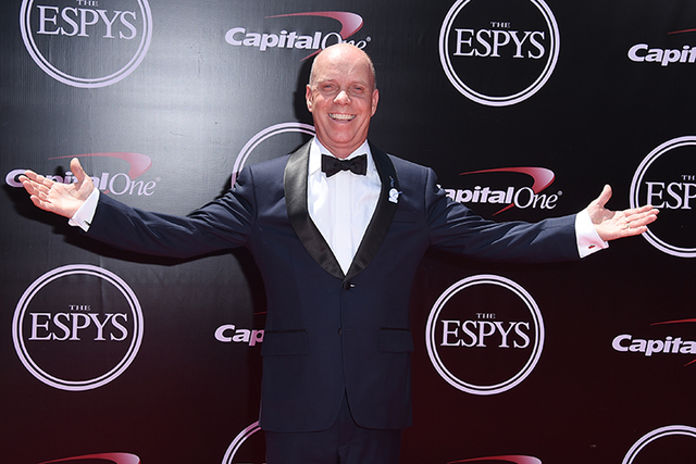 Sports commentator Scott Hamilton arrives at the ESPY Awards at the Microsoft Theater in July 13 in Los Angeles. (Jordan Strauss/AP)