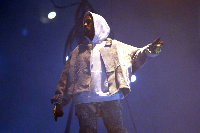 Kanye West performs during the Kanye West: The Saint Pablo Tour at Philips Arena on Monday, September 12, 2016, in Atlanta. (Photo by Robb Cohen/Invision/AP)