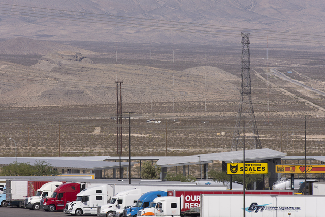 Apex Industrial Park near U.S. 93 and Interstate 15 in North Las Vegas is seen, Wednesday, Oct. 12, 2016. Love's Travel Stop is seen in the foreground. Jason Ogulnik/Las Vegas Review-Journal