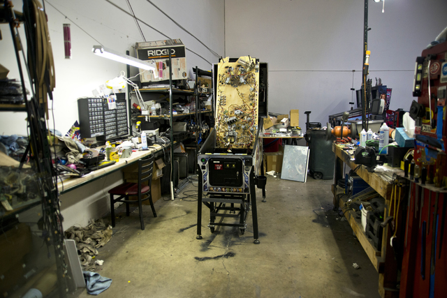 A pinball machine awaits repairs inside the Superior Games & Vending repair shop and warehouse in North Las Vegas on Tuesday, Oct. 11, 2016. Daniel Clark/Las Vegas Review-Journal Follow @DanJC ...