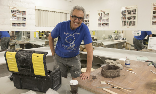 Osteopathic physician and Touro University professor Dr. Robert Kessler pauses for a photo during his pottery class at the Boulder City Art Center on Monday, Sept. 12, 2016. Richard Brian/Las Vega ...