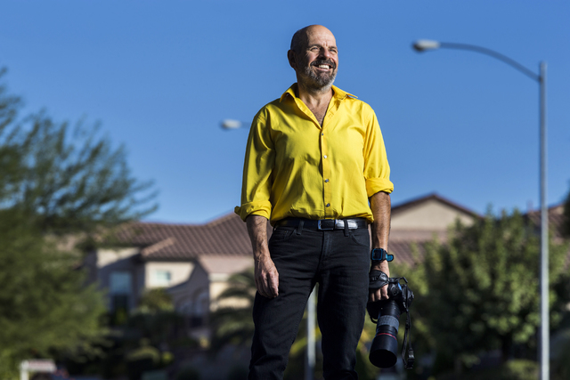 Dr. Jonathan Nissanov, a medical school professor at Touro University Nevada, poses for a portrait at his Henderson home on Wednesday, Sept. 14, 2016. Nissanov is an accomplished photographer whos ...