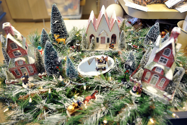 a holiday decoration is displayed at the childrens service guild workshop at child haven in las