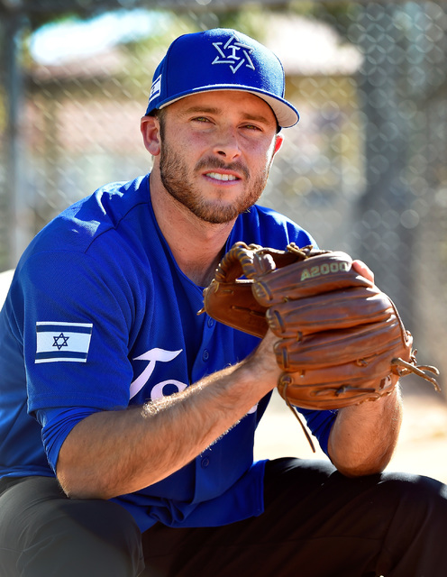 Mitch Glasser, professional baseball player and substitute teacher at Green Valley High School poses at Green Valley Park Tuesday, Oct. 4, 2016, in Henderson. The minor league player was chosen to ...