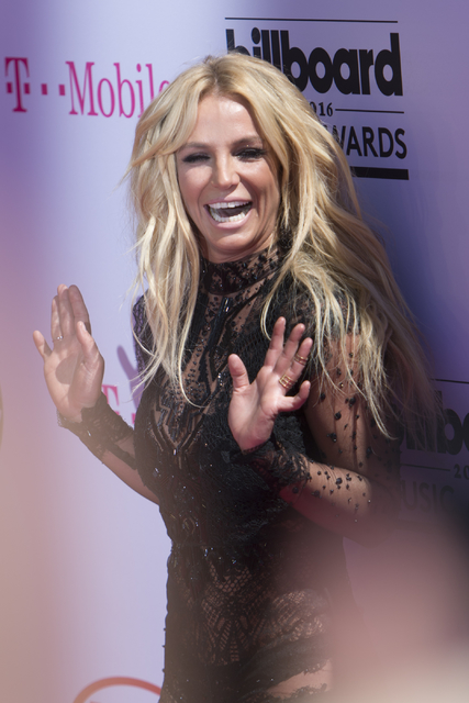 Britney Spears, shown on the red carpet during the Billboard Music Awards in May is raising money for the Nevada Childhood Cancer Foundation. (Jason Ogulnik/Las Vegas Review-Journal)