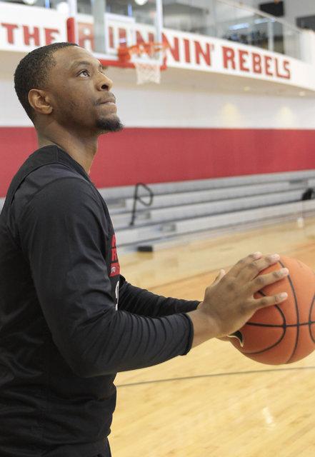 UNLV senior Christian Jones is seen on the court during team practice at the Mendenhall Center at UNLV in Las Vegas on Monday, Aug. 8, 2016. Richard Brian/Las Vegas Review-Journal Follow @vegaspho ...