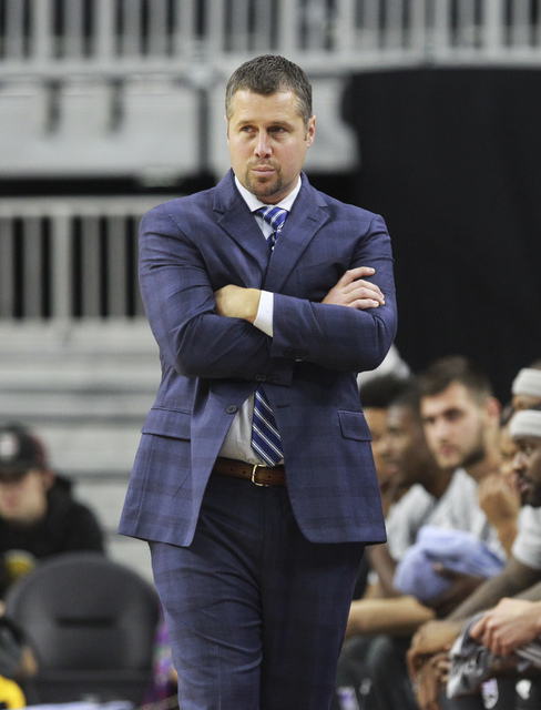 Sacramento Kings head coach David Joerger looks on during a preseason basketball game against the Los Angeles Lakers at the T-Mobile Arena in Las Vegas on Thursday, Oct. 13, 2016. Chase Stevens/La ...