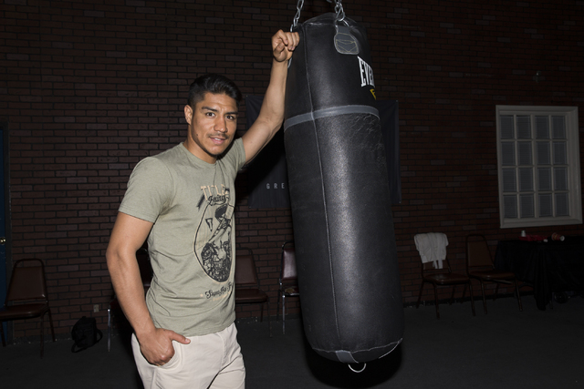 Boxer Jessie Vargas is photographed at the Top Rank Gym on Thursday, Oct. 6, 2016, in Las Vegas. Vargas is set to fight against Manny Pacquiao on Nov. 5. (Erik Verduzco/Las Vegas Review-Journal) F ...
