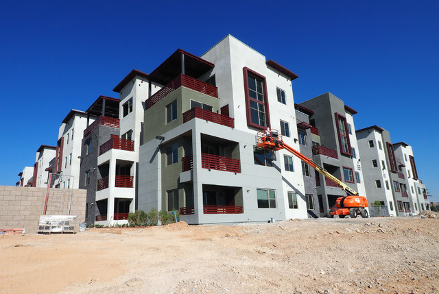 Work continues on the new luxury apartment complex Constellation being constructed by The Calida Group  in Downtown Summerlin, Tuesday, Aug. 30, 2016. Jerry Henkel/Las Vegas Review-Journal.