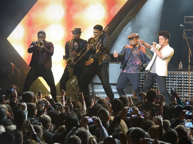 Bruno Mars performs at the Las Vegas Cosmopolitan in 2014. (Ethan Miller/WireImage)
