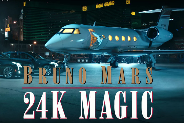 "Bruno Mars' new video ""24K Magic,"" takes place in Las Vegas (YouTube)"