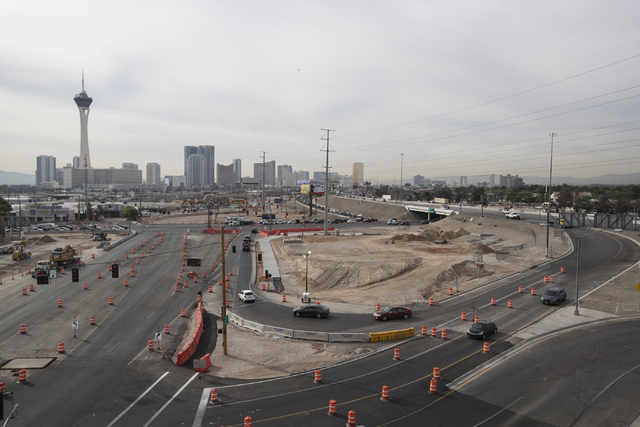 Charleston Boulevard exit and entrance ramps at Interstate 15 has construction on Thursday, Oct. 27, 2016, in Las Vegas. (Loren Townsley/Las Vegas Review-Journal Follow @lorentownsley)