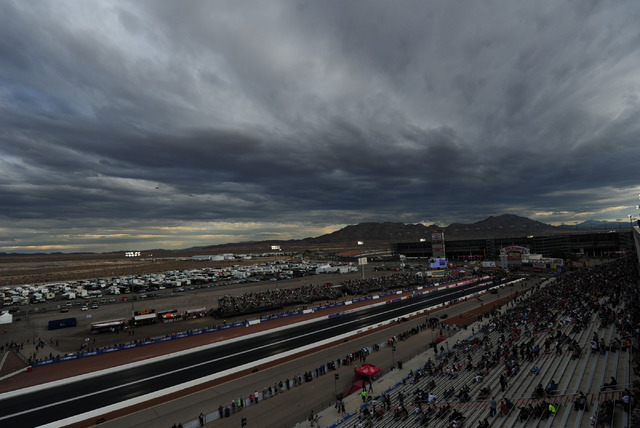 A general view of The Strip at Las Vegas Motor Speedway during the second qualifying session for the NHRA Mello Yello Series Toyota Nationals at The Strip at Las Vegas Motor Speedway in Las Vegas  ...