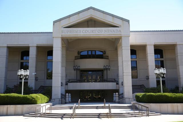 The Nevada Supreme Court building in Carson City. (David Guzman/Las Vegas Review-Journal Follow @davidguzman1985)