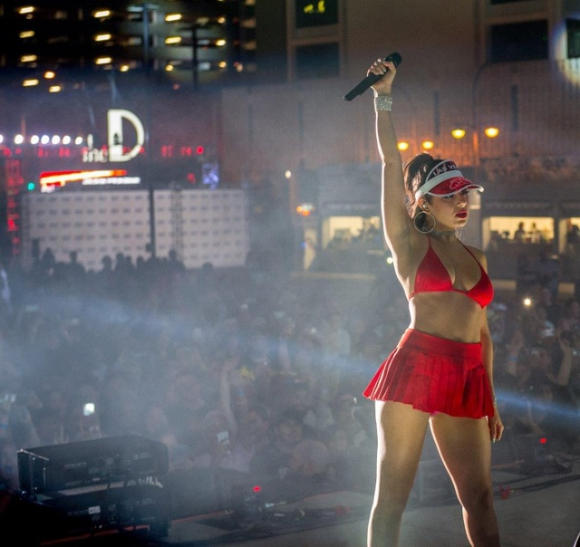 Charli XCX sings Friday Oct. 21 at the Downtown Las Vegas Events Center for the post-Pride parade after-concert. (Downtown Las Vegas Events Center/Tom Donoghue Photography)