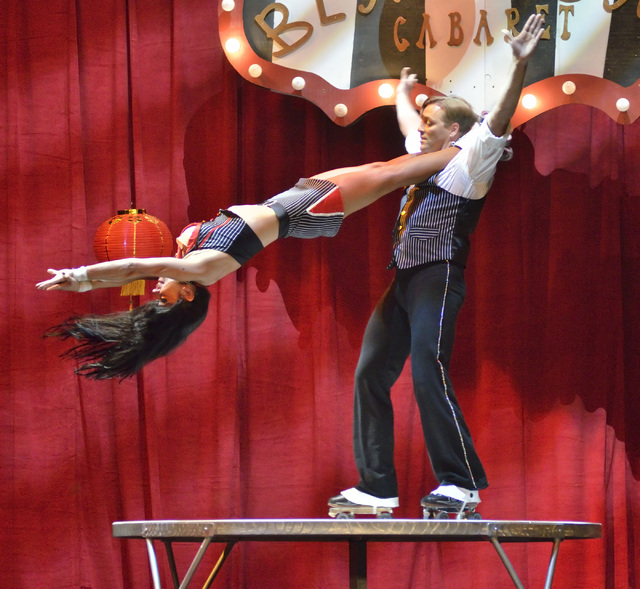 "Husband and wife skating duo Ana and Karoli Zeman perform during the Circus Couture ""Lucky"" fundraiser benefitting the Children's Specialty Center of Nevada at the Hard Rock h ..."