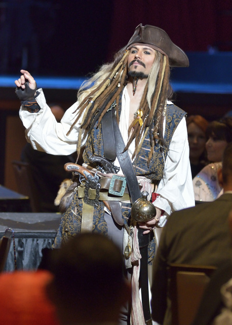 "Justin Avila, as Captain Jack of Hearts, is shown during the Circus Couture ""Lucky"" fundraiser benefitting the Children's Specialty Center of Nevada at the Hard Rock hotel-cas ..."