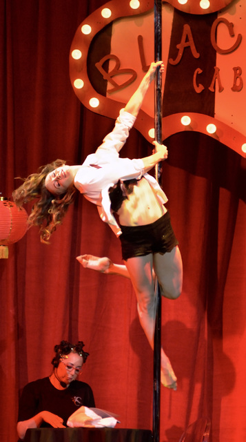"Natalia Shaenko performs during the Circus Couture ""Lucky"" fundraiser benefitting the Children's Specialty Center of Nevada at the Hard Rock hotel-casino at 4455 Paradise Road ..."