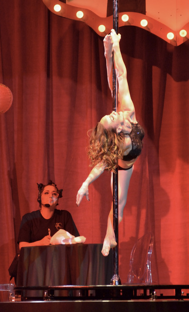 "Natalia Shaenko performs during the Circus Couture ""Lucky"" fundraiser benefiting the Children's Specialty Center of Nevada at the Hard Rock hotel-casino at 4455 Paradise Road in Las Vegas on ..."