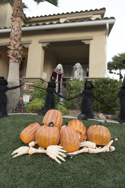 Halloween decorations are seen at Sharon Sharapan's house in Henderson, Sunday, Oct. 30, 2016. Jason Ogulnik/Las Vegas Review-Journal