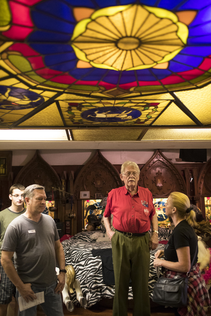 Former Lt. Gov. Lonnie Hammargren gives a tour of his historical collection at his Las Vegas home during his 21st annual open house on Saturday, Oct. 29, 2016. Loren Townsley/Las Vegas Review-Jour ...