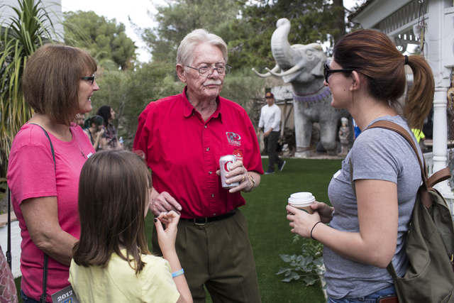 Former Lt. Gov. Lonnie Hammargren, center, interacts with guests during his 21st annual open house on Saturday, Oct. 29, 2016. Loren Townsley/Las Vegas Review-Journal Follow @lorentownsley